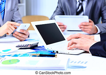 консультант, финансовый, figures, бизнес, компания, работа, denoting, analyzing, прогресс