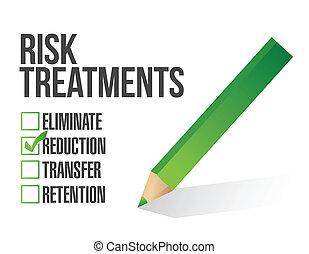 контрольный список, дизайн, риск, иллюстрация, лечение