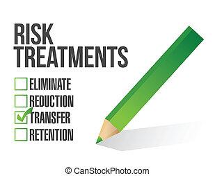 контрольный список, риск, иллюстрация, лечение
