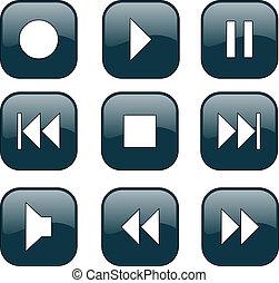 контроль, buttons, audio-video