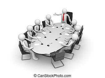 конференция, корпоративная, встреча, комната