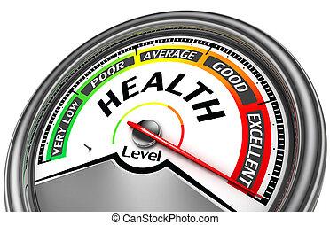 концептуальный, здоровье, метр, уровень