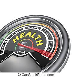 концептуальный, индикатор, вектор, здоровье, метр