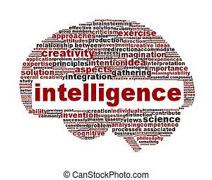 концептуальный, интеллект, символ