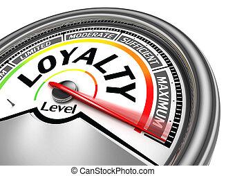 концептуальный, лояльность, метр, уровень