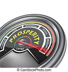 концептуальный, процветание, индикатор, вектор, метр