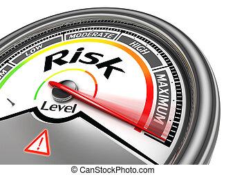 концептуальный, риск, метр, уровень