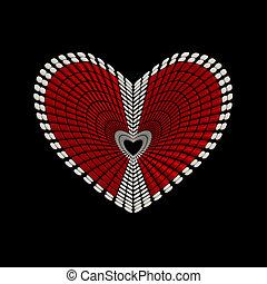 концептуальный, сердце, форма, дизайн