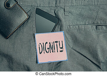 концептуальный, смартфон, письмо, честь, wallet., брюки, стиль, dignity., являющийся, фронт, устройство, качественный, showcasing, достойный, рука, фото, манера, внутри, показ, карман, бизнес, серьезный, уважение