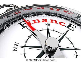концептуальный, финансы, компас