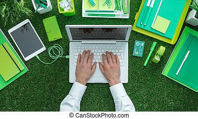 концепция, зеленый, бизнес
