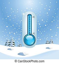 концепция, зима, замерзать