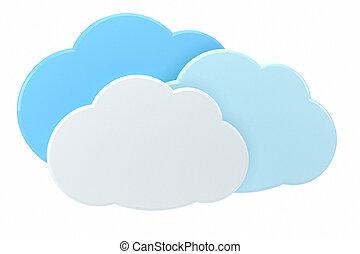концепция, облако, вычисления