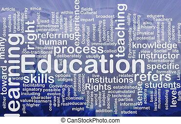 концепция, образование, задний план