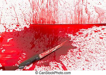 концепция, плескаться, день всех святых, кровавый, кровь, :, нож