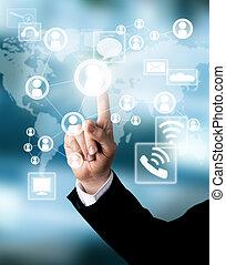 концепция, схема, бизнес, виртуальный
