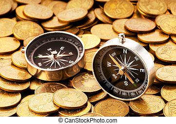концепция, финансовый, -, times, navigating, markets, сложно