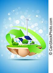 концепция, экология, задний план