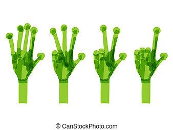 концепция, set., экология, зеленый, руки, дизайн, ваш