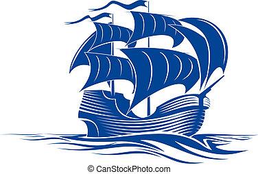 корабль, паруса