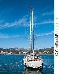 корабль, парусный спорт, море