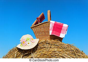 корзина, лето, пикник