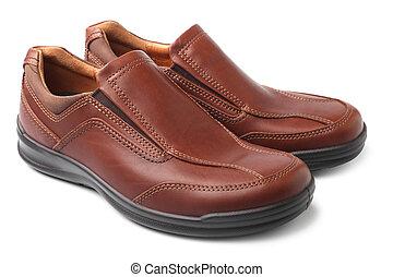 коричневый, обувь