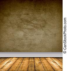 коричневый, floors, голый, комната, пустой