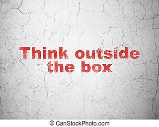 коробка, стена, за пределами, задний план, образование, думать, concept: