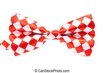 коробка, isolated, лук, задний план, галстук, изящный, белый, красный