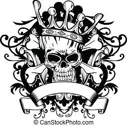 корона, череп