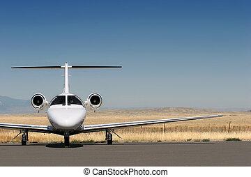 корпоративная, частный, реактивный самолет