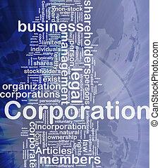 корпорация, концепция, задний план