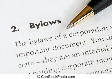 корпорация, bylaws