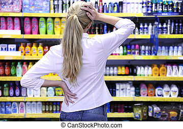 костюмера, продукт, поход по магазинам, choosing, супермаркет