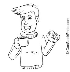 кофе, бизнес, человек