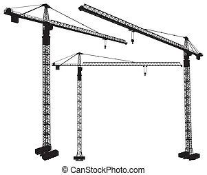 кран, строительство, elevating