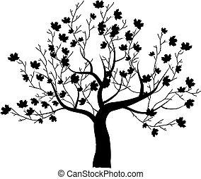 красивая, дерево, дизайн, изобразительное искусство, ваш