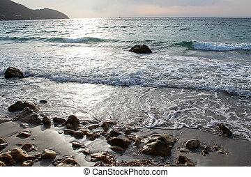 красивая, остров, майорка, восход