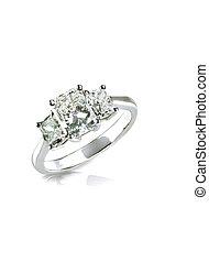 красивая, платина, бриллиант, множественный, золото, в, или, задавать, diamonds, свадьба, настройка, кольцо