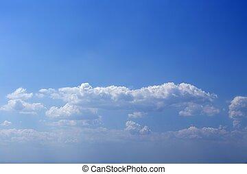 красивая, синий, небо, clouds, текстура, лето, белый