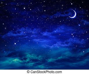 красивая, nightly, задний план, небо