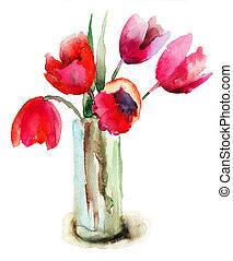 красивая, tulips, цветы