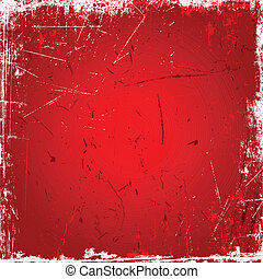 красный, задний план, гранж