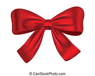 красный, подарок, лук