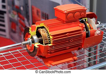 красный, порез, электрический, двигатель, presented
