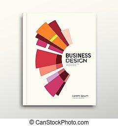 красочный, бизнес, абстрактные, годовой, обложка, книга, доклад