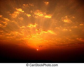 красочный, восход