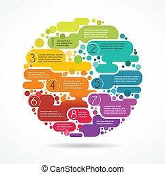 красочный, текст, абстрактные, пространство, задний план, infographics