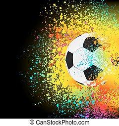 красочный, eps, задний план, 8, футбольный, ball.